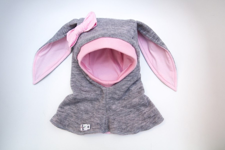 VILNONIS ŠALMAS Pink Bunny