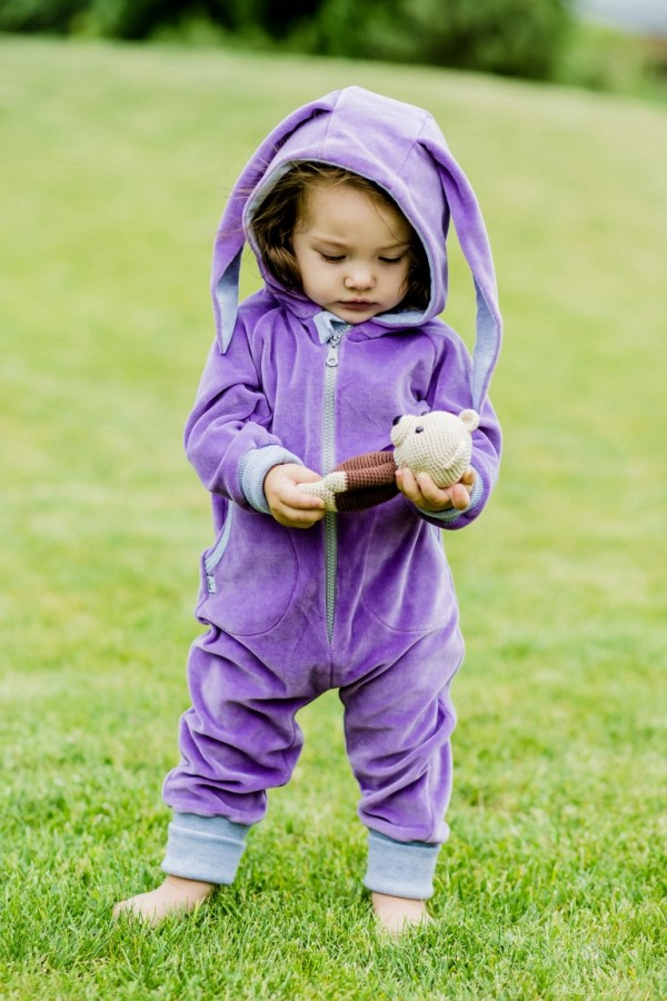 Purple Velour Bunny