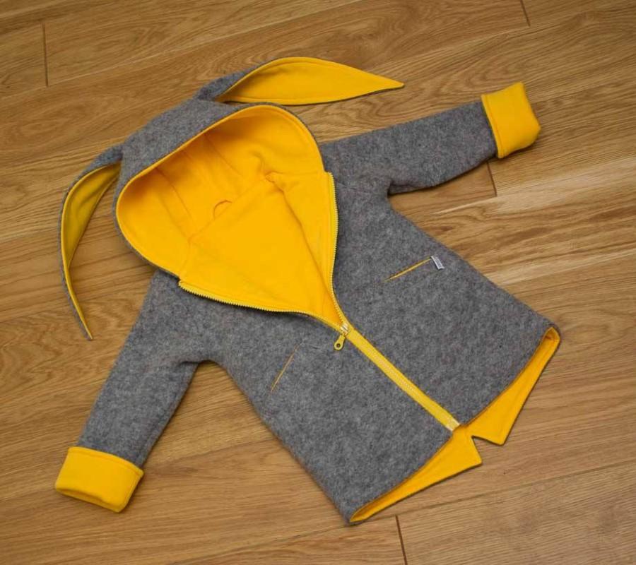 Yellow Grey Bunny