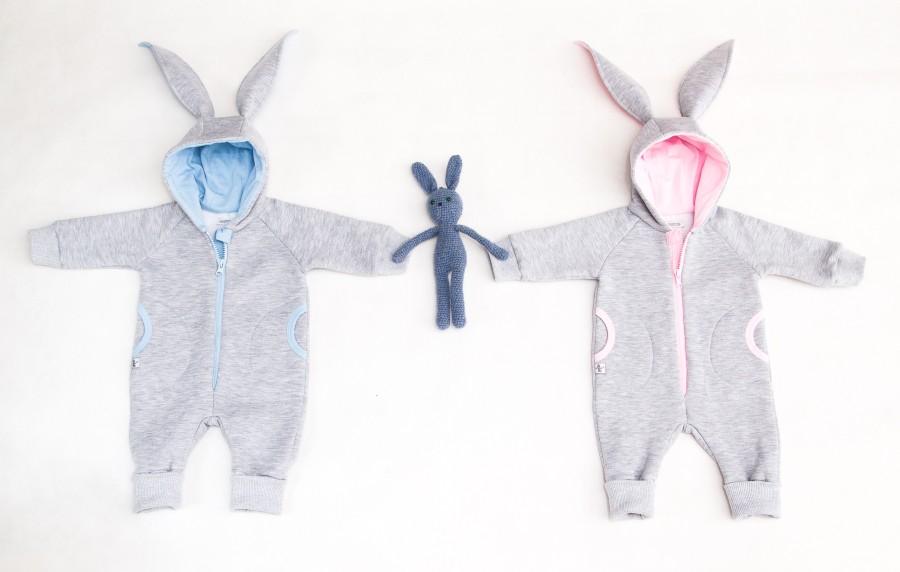 Grey Sky Blue Baby Bunny