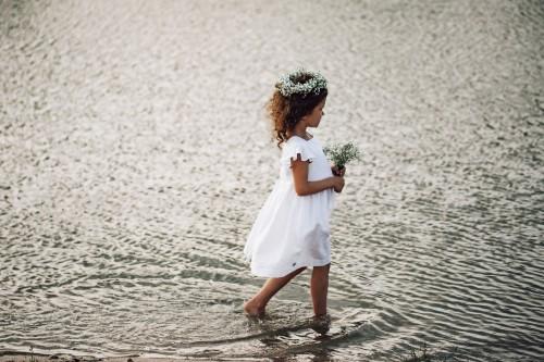 DRAUGIŲ suknelė - balta