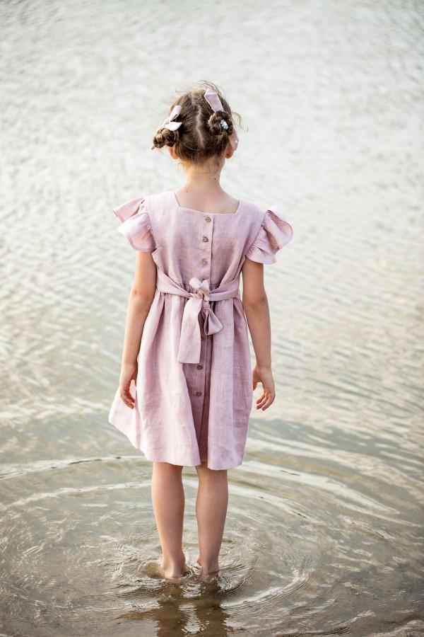 DRAUGIŲ suknelė - pelenų rožinė