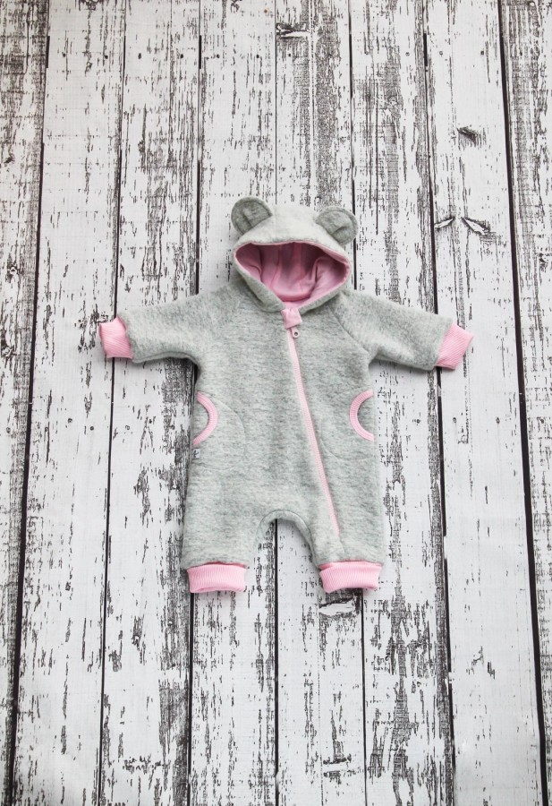 Light Grey Wool Baby Bear