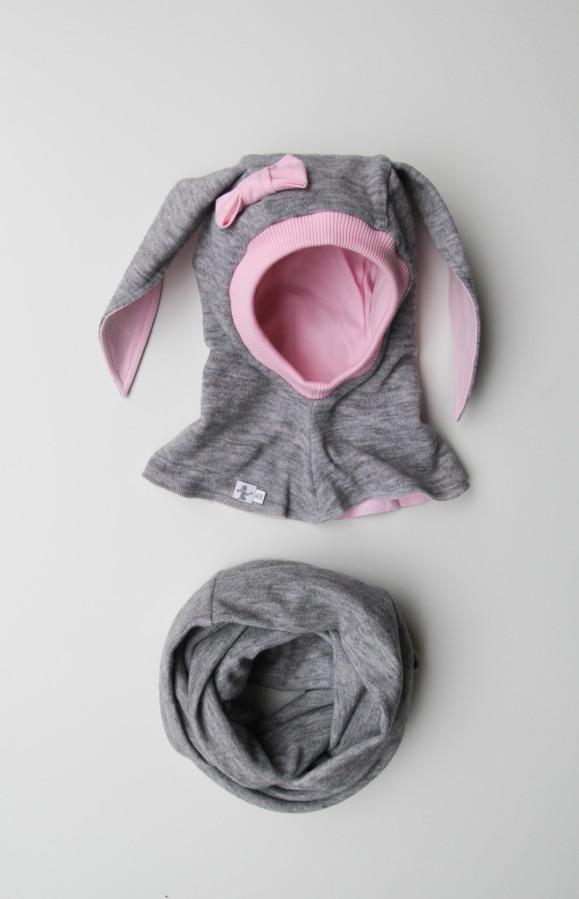VILNONIS ŠALMAS Pink Bunny Plus
