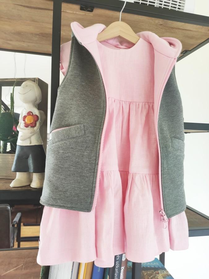Pink Grey Bunny