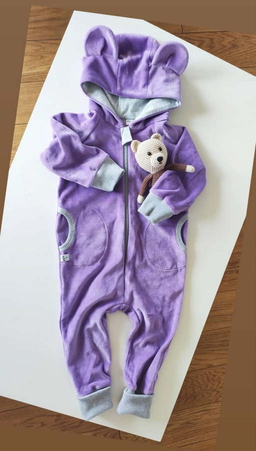 Purple Velour Bear